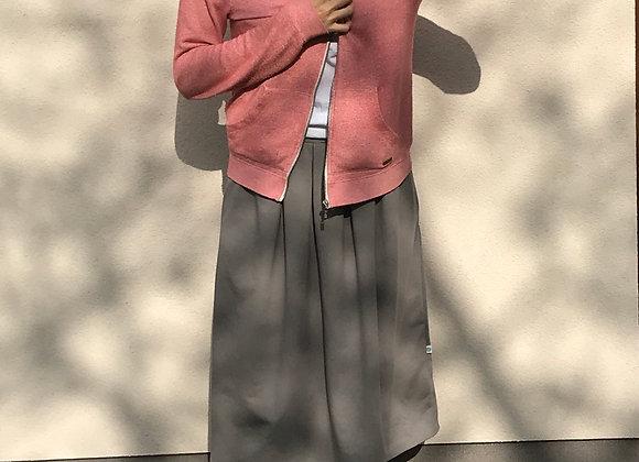 Pohodlná tepláková sukně - ŠEDÁ - vel. M-L