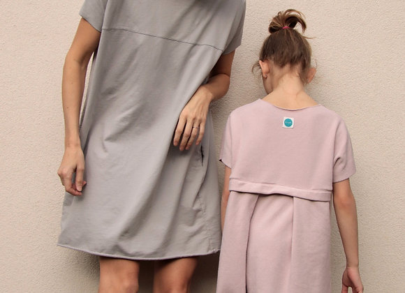 Úpletové bavlněné šaty - RUŽOVÉ