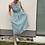Thumbnail: lněné šaty s volnými zády - ZELENÉ, vel. 36 (S)