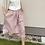 Thumbnail: Lněná sukně  - RUŽOVÁ - vel. 36 (S)