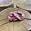 Thumbnail: Látková lněná gumička - ČERVENÁ