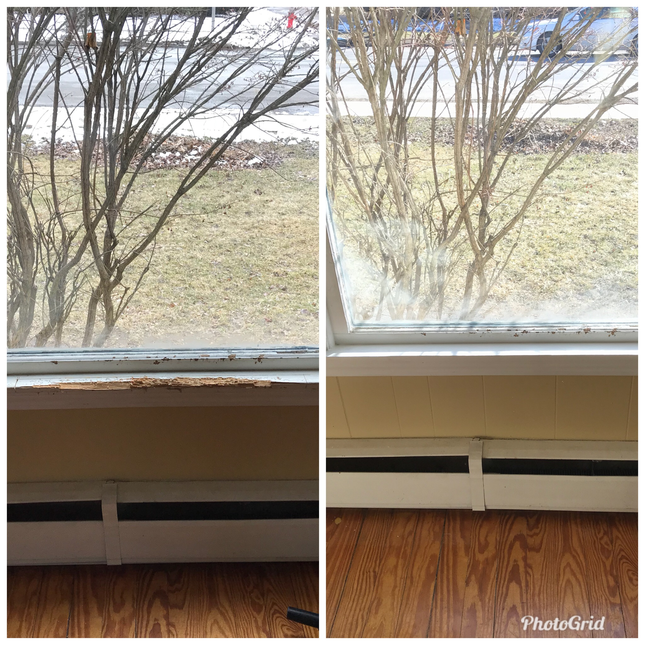 Window Sill Before and After