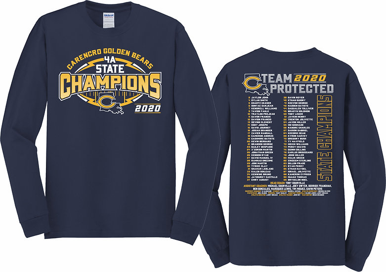 NAVY COTTON  LONG SLEEVE T-SHIRT