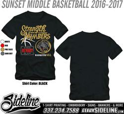 SUNSET MIDDLE BASKETBALL 2016-2017