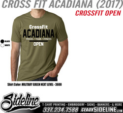 CROSS FIT ACADIANA (2017) - DESIGN 1 - CROSSFIT OPEN - MILITARY GREEN