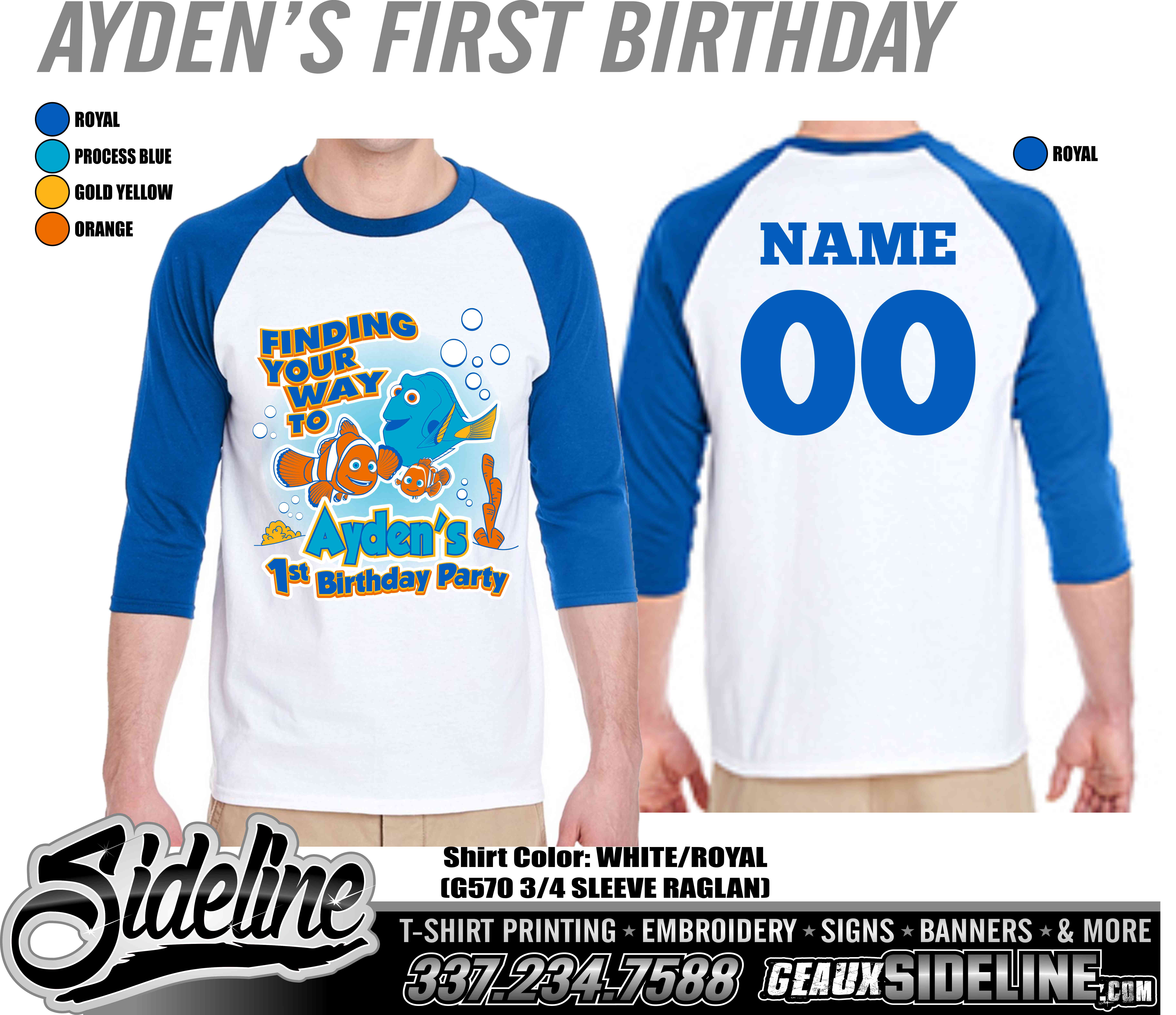 AYDEN'S FIRST BIRTHDAY - RAGLANS