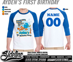 AYDEN'S FIRST BIRTHDAY - RAGLANS