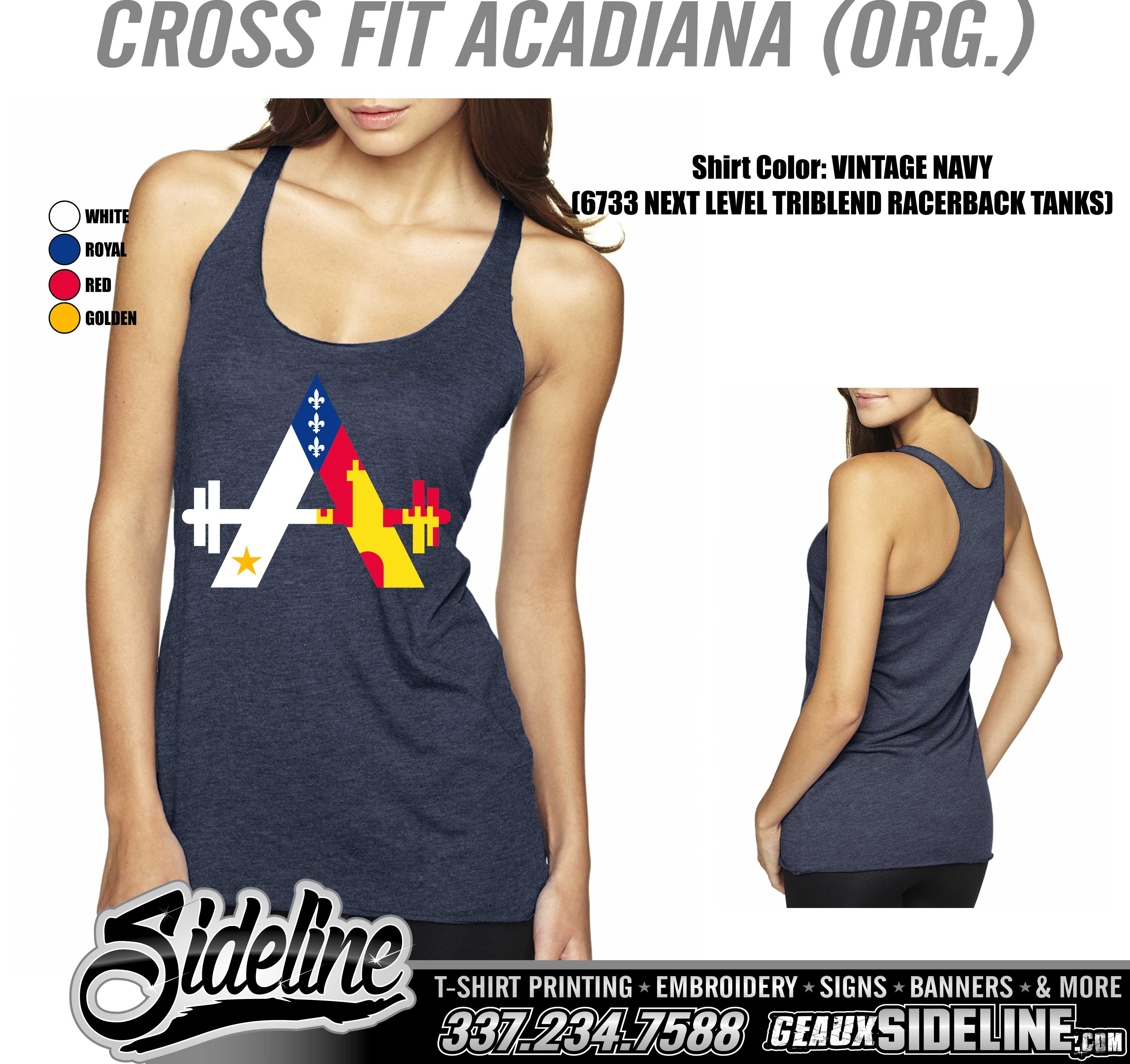 CROSS FIT ACADIANA (ORG.) - 6733 VINTAGE NAVY