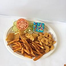 COMBO PLATE; FISH & SHRIMP