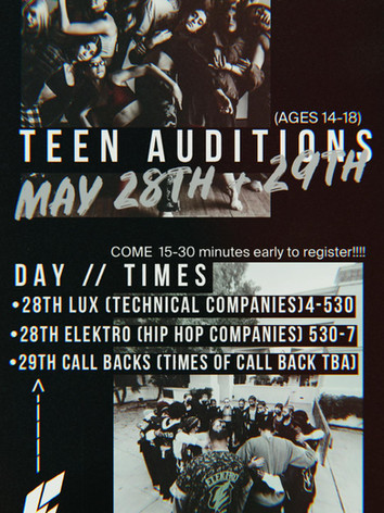 Teen Auditions 2021