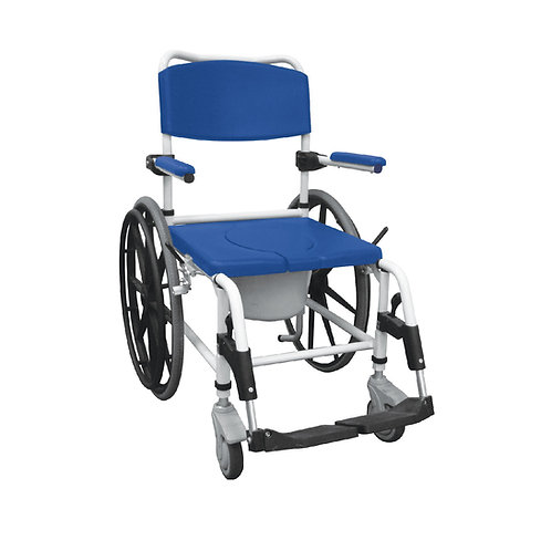 ALUMINUM REHAB SHOWER COMMODE CHAIR