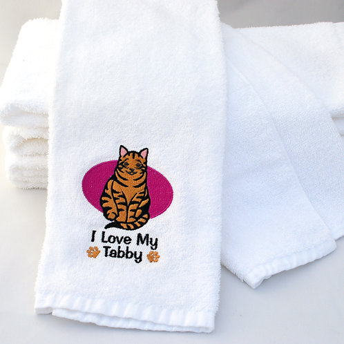 Orange Tabby Cat Towels