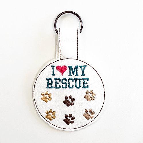 I Love My Rescue Key Fob