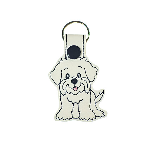 Maltese Westie or Maltipoo Key Fob Gift for Dog Lovers