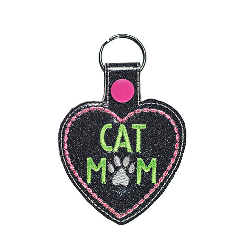 Cat Mom Key Fob Gift For Cat Lovers