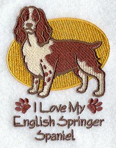 English Springer Spaniel Image For Personalized Dog Towel