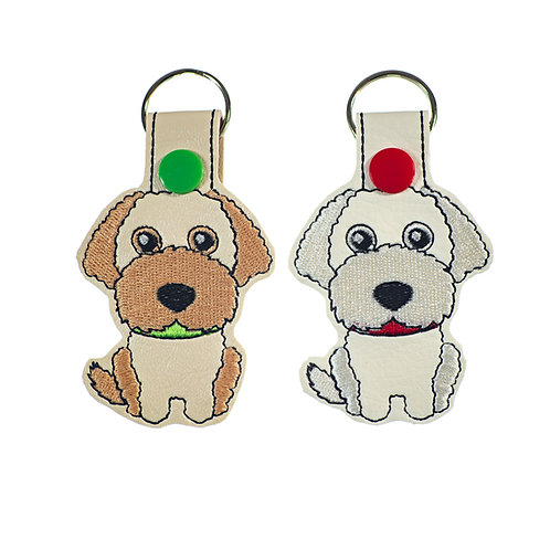 Labradoodle or Goldendoodle Key Fobs Gift for Dog Lovers
