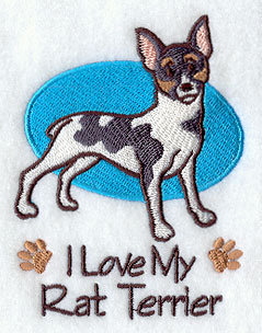 Rat Terrier Image for Dog Towel Gift For Dog Lovers