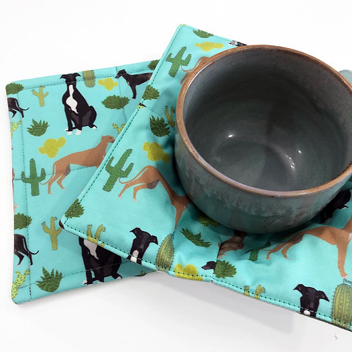 Greyhound Bowl Cozy & Hot Pad Holder
