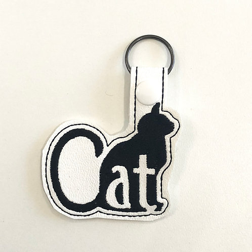 Black Cat Key Fob
