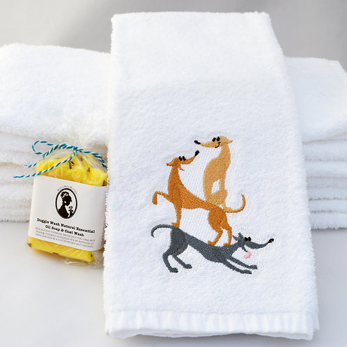 """Playing Greys"" Greyhound Towels"
