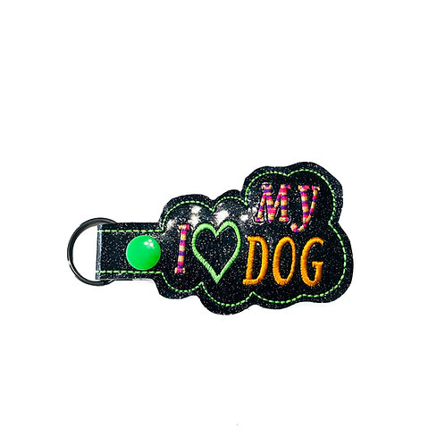 I Love My Dog Key Fob
