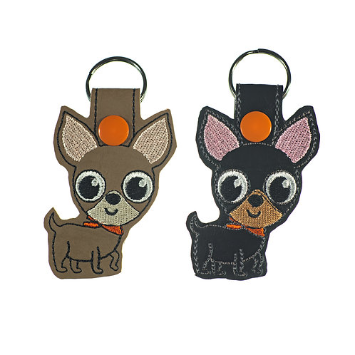 Chihuahua Key Fobs in Two Colors