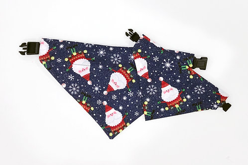 Santa Claus Over The Collar Dog Bandana