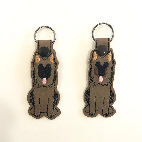 Two German Shepherd Key Fobs