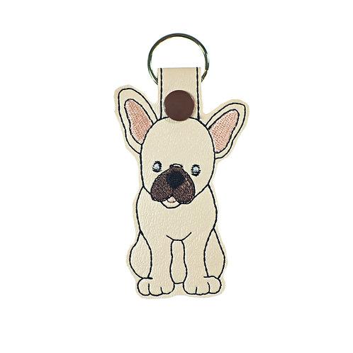 French Bulldog Key Fob or Key Chain Gift