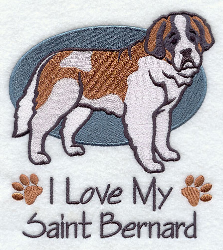 Saint Bernard for Embroidered Dog Towel