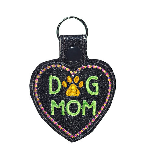 Dog Mom Key Fob or Key Chain Gift for Dog Lovers