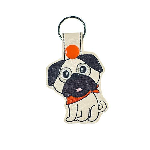 Pug Key Fob or Luggage Tag Gift