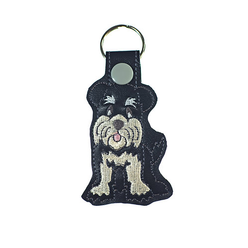 Schnauzer Key Fob or Luggage Tag Gift