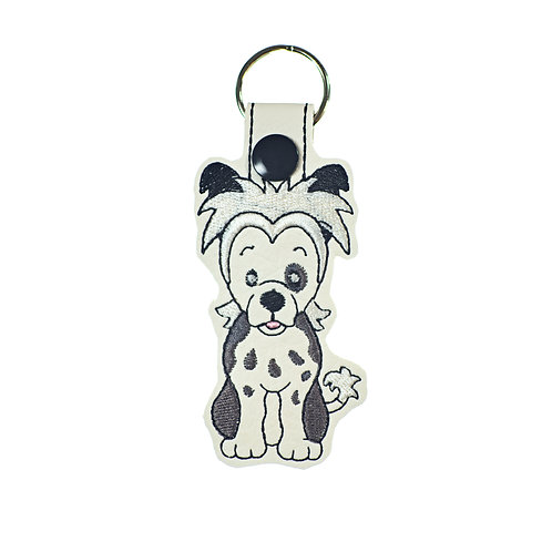 Chinese Crested Key Fob or Key Chain Gift For Dog Lovers