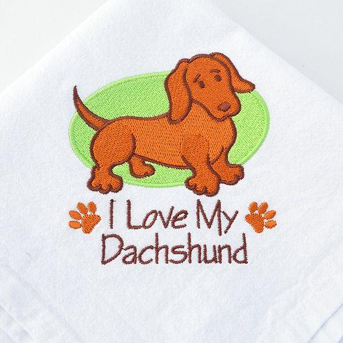 I Love My Dachshund - lime green
