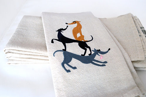 Stacked Hounds Kitchen Towels