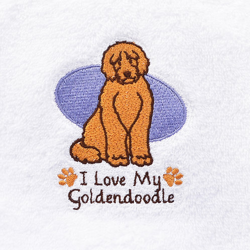 Goldendoodle Hand Towels Close Up