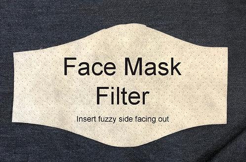 Face Mask Filter - Reusable