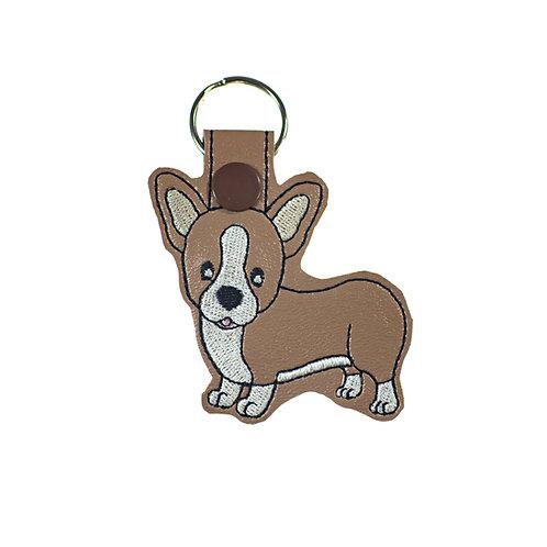 Corgi Key Fob or Key Chain Gift For Dog Lovers