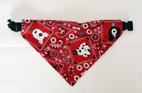 Red Paisley - Over The Collar Dog Bandana