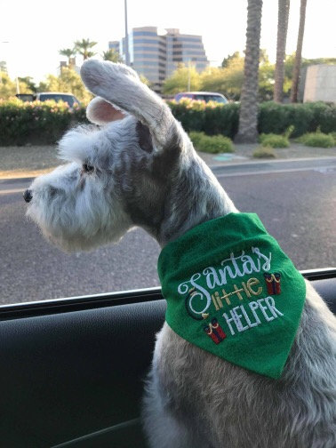 """Santa's Little Helper"" Over The Collar Bandana"
