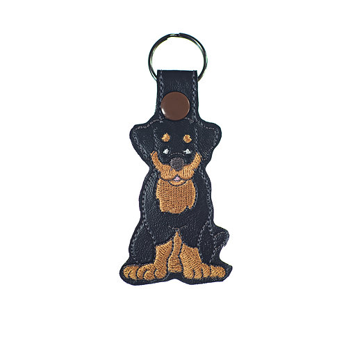 Rottweiler Key Chain or Luggage Tag Gift