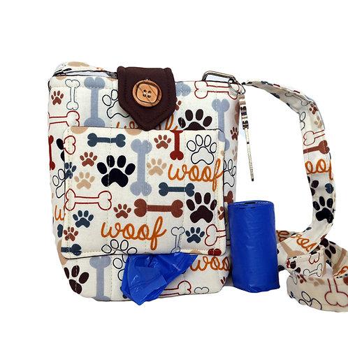 Woof Dog Walking Bag Front