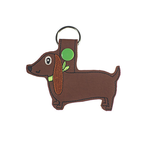 Red Dachshund Key Fob Gift for Dog Lovers