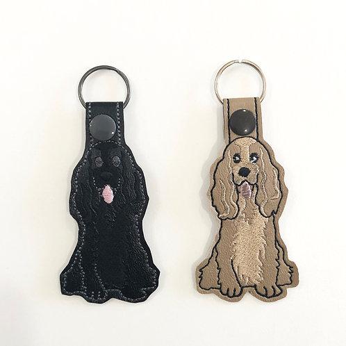 Two Cocker Spaniel Key Fobs