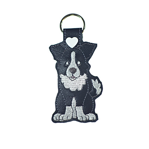 Border Collie Key Fob or Luggage Tag Gift For Dog Lovers