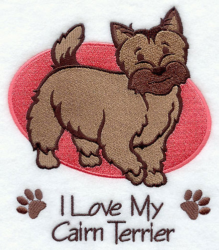 Cairn Terrier image for embroidered towel gift for dog lovers