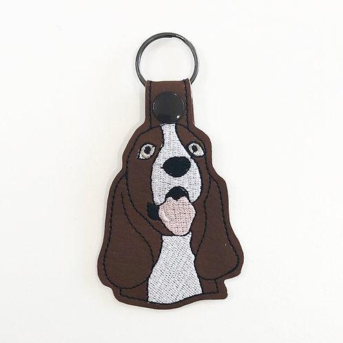 Basset Hound Key Fob