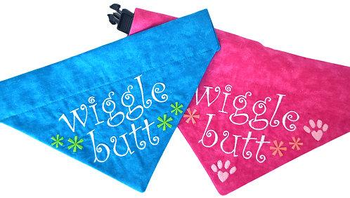 Wiggle Butt Over The Collar Dog Bandana